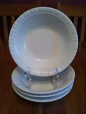 """4 Pretty Martha Stewart Basketweave Scone Beige 7"""" Cereal Bowls"""