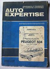 AUTO EXPERTISE n°65; Fiche S.R.A/ Peugeot 504 essence-diesel/ 104/ R 12/ R15/17