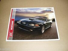 2004 Ford Mustang GT Mach 1 convertible coupe sales brochure dealer literature