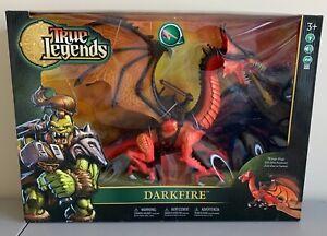 BRADN NEW Chapmei True Legends DARKFIRE DRAGON Toys R' Us Mythical Warriors RARE