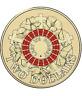 2015 Australia Red Anzac Two $2 Dollar Coin - Elizabeth II - Uncirculated