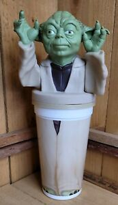 Star Wars Ep 1 Yoda Pepsi Co. Pizza Hut 32oz Collector Cup Molded Figure Top New