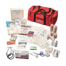 HONEYWELL NORTH Trauma Kit, Medium, Red, Nylon, 3EWF3, EXP: 09/17 (M)