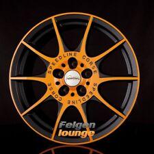 4 Cerchi in lega Speedline sl2 Marmora MCR orange-nero opaco 8x18 et35 5x112 ml76 ne