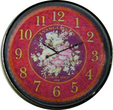 1 inch Crystal Dome Button Rose Center Clock Face #24   FREE US SHIPPING