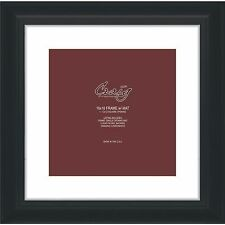 "Craig Frames 16x16 2"" Black Picture Frame, White Mat, Opening for 12x12 Image"