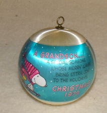 vintage 1979 grandson  christmas ornamant