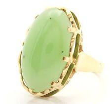 ♦♦ Jadering in 14kt 585 Gelb Gold Damen Jade Ring Jadestein Gelbgold Goldring ♦♦
