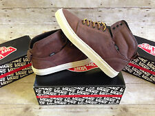 VANS LEATHER ALOMAR BOOT BROWN TURTLE DOVE MENS SIZE 9 SKATE SHOES