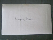 ORIGINAL AUTOGRAPH SIGNATURE OF AUTHOR MARGERY SHARP  - WRITTEN 1930S