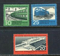 31342) DDR 1960 MNH German Railroads - Ship 3v