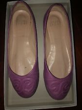 Escada Sport Flat Shoes. Size 37. Mulberry Color. Made In Italy.