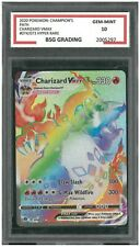 ✨2020 Pokemon: CHARIZARD VMAX 074/073 Rainbow Hyper Rare BSG Graded 10
