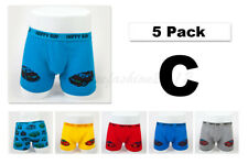5pc Size 11 10-12 Comfort Cotton Boys Boxer Briefs Sports Cars Kids Underwear