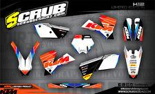 SCRUB KTM graphics decals kit SX SXf 125 250 450 525 '03 -'04 MX 2003-2004