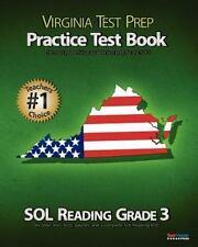 Virginia Test Prep Practice Test Book Sol Reading Grade 3 by Test Master Press V