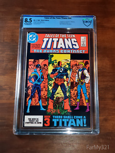 Tales of the Teen Titans #44 8.5 CBCS Graded. Triple Key. 1st Nightwing. Jericho
