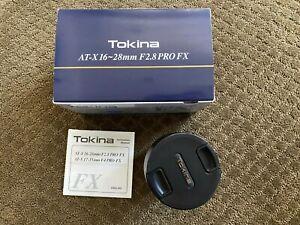 Tokina FX Zoom Lens 16-28 mm F/2.8 Lens EC for Nikon full frame
