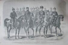 SOLDATS COSTUMES MILITAIRE GÉNÉRAUX SOLDATS GRAVURE L UNIVERS ILLUSTRE de 1866