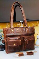 Womens Ladies 100% Genuine Leather Tote 👜 Work Shoulder Large Hand Bag RRP£125