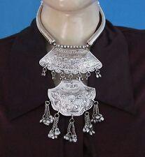 Statement Chunky Fringe Necklace Tribal Vintage Gypsy Boho Women Fashion Jewelry