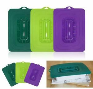 3 Pieces Rectangular Silicone Suction Lids For Baking Tabletop Heat Resistant