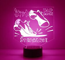 Tap Dance Night Light Personalized Name, Kids LED Night Lamp w/Remote,Dance Gift
