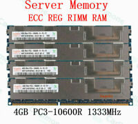 For Hynix 16GB 4X4GB PC3-10600R DDR3-1333Mhz CL9 Registered REG Server Memory RH