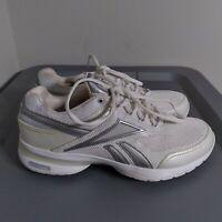 Reebok Easytone Reenew Womens Size 7.5 Walking Shoes White/Gray Athletic Sneaker