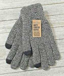 Britt's Knits men's frontier gray texting gloves