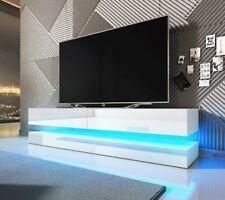 TV-Lowboard Falit Sideboard Wohnzimmer Mediaschrank Hochglanz Beleuchtung M24