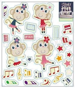 Glow Sticker Carton Dancing Monkey Glow In The Dark Stickers Cute Dancing Monke