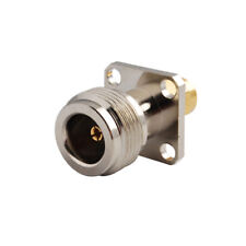 N Type Female to SMA Male Flange Mount Connector Adapter