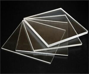 Clear Acrylic Perspex Sheet Custom Cut To Your size...Free Polished Edges!!