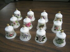 12 Danbury Mint State Flower Bell Collection Hawaii Louisiana Vermont & More