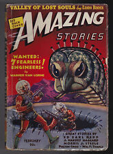 Amazing Stories, February 1939 - William F Temple, Morris J Steele, Polton Cross