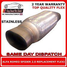 Alfa Romeo Spider 2001-03 DIY Exhaust Replacement Repair Flex Flexi For Cat Pipe