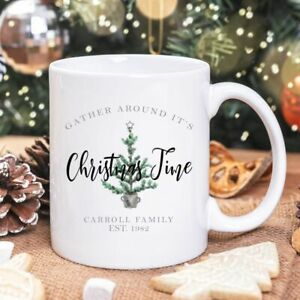 Personalised Christmas Tree Mug/Cup Tea Coffee Gift Any Name Xmas Present