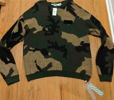 $1000 Mens Authentic OFF-WHITE Camouflage Oversized Sweater XL