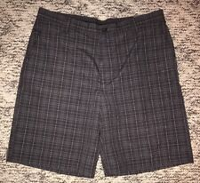 NWT Men's Izod XFG Golf Shorts Size 36 brown plaid