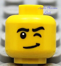 NEW Lego City Male MINIFIG HEAD Boy w/Wink & Smile -Dino/Kingdoms/Pirates/Castle