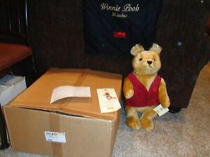 NEW Steiff Winnie The Pooh Limited Edition 20 inches EAN 680298 w/bag w/ shipper