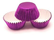 48 MINI Purple Foil Cupcake Liners Baking Cups Truffle Candy Greaseproof