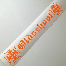 Oldschool Neon Orange Frontscheiben Aufkleber XXL OEM JDM Sticker Auto Tuning
