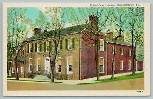 Elizabethtown Kentucky~Brown-Pusey House~Vintage Postcard