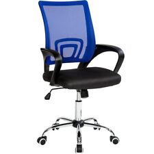 Bürostuhl mit Lordosenstütze Drehstuhl Schreibtischstuhl Mesh Netz Stuhl blau