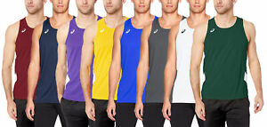 ASICS Men's Team Sweep Singlet Top, Color Options
