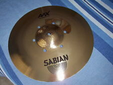 "Sabian  16"" ISO Raw Bell AAX Crash Cymbal Brilliant"