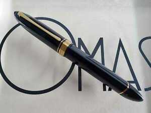 OMAS 360 BLACK ROLLER BALL  BEAUTIFUL PEN BOXED * NEW FROM FACTORY *