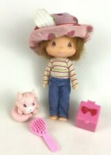 Strawberry Shortcake and Custard Cat with Accessories Lot of 4 Bandai 2003